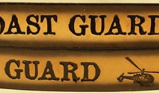 Embossed Leather Belt for the Coast Guard