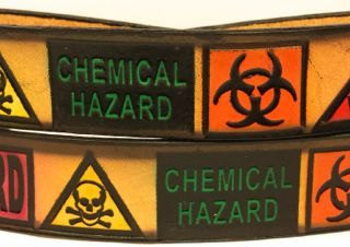 Biohazard Embossed Leather Belt
