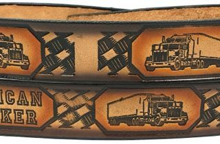 Embossed Leather Belt Fro a Truck Driver