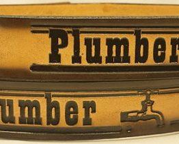 Plumber Embossed Leather Belt