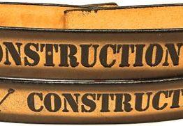 Construction Worker Embossed Genuine Leather Belt
