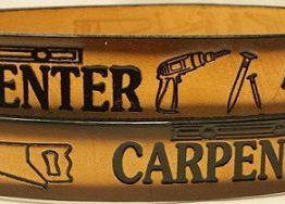 Embossed Leather Belt For a Carpenter