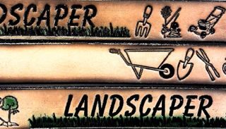 Landscaper Embossed Leather belt is Sturdy 100% Leather Made in the USA.