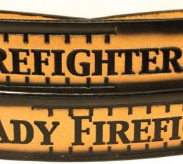 Embossed leather Belt for a Female Firefighter