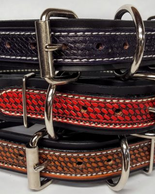 """Durable Thick Dog Collars are 1 1/2"""" wide and are 100% Leather Made in USA"""