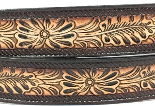 This Flower Rope Embossed Leather belt is Made in USA & all handmade. Our strong Genuine Leather Belts are 1.5 inches wide unless otherwise noted. Great gift for someone who loves Floral & Rope designs