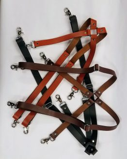 Leather Suspenders leather non stretch