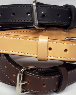 These belts are 2 Ply 100% Heavy Duty Solid Leather Made in the USA.