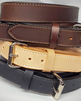2 Ply Heavy Duty 1.5 Inch Wide 100% Solid Leather Belt Made in the USA