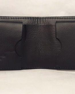 Bifold Ileather wallet nterior Black