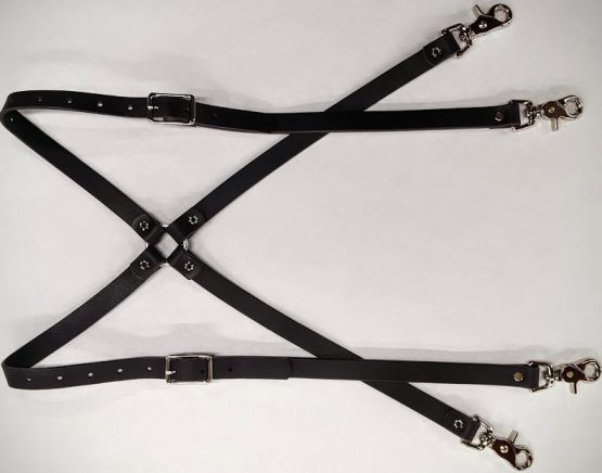 These Heavy Duty Suspenders are 100% Solid Leather Made in the USA.