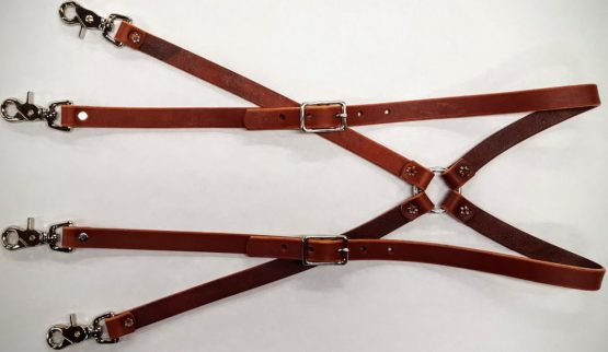 These Heavy Duty Suspenders are 100% Solid Leather Hand Made in the USA.
