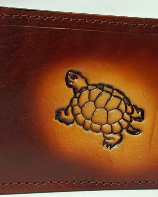 This Fishing Embossed Bifold Leather Wallet is 100 % Leather Wallet & hand made