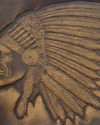 Indian Chief Embossed Genuine 100% Leather Wallets are hand made in the USA using Distressed Heavy Chrome Oil Tanned Crazy Horse Leather.