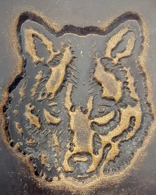 Wolf Head Embossed Genuine 100% Leather Wallets are hand made in the USA using Distressed Heavy Chrome Oil Tanned Crazy Horse Leather.