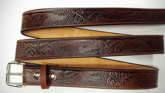 These Eagle Embossed Leather belts are 100% Solid Leather Made in the USA