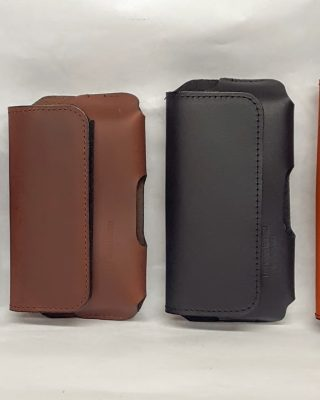 100 % Leather Cell Phone cases made in the USA. These are heavy duty cases that will outlast your phones, time and time again. They also have small pocket for your licence and a few credit cards