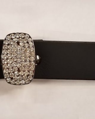 Leather Belt with 3pc Rhinestone Buckle set #151
