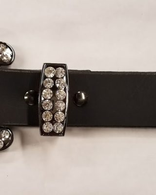 Leather Western Belt with 3pc Rhinestone Buckle set #152