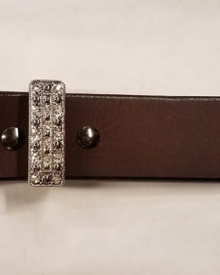Leather Western Belt with 3pc Rhinestone Buckle set #153