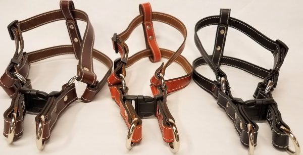 Leather Dog Harness 0.75 Inch Wide-DHS5003-2