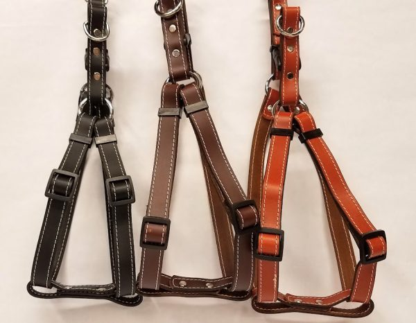 Leather Dog Harness 0.75 Inch Wide-DHS5003
