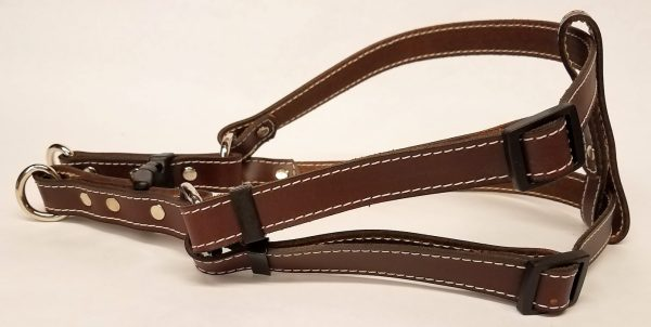 Leather Dog Harness 0.75 Inch Wide-DHS5003-Brown