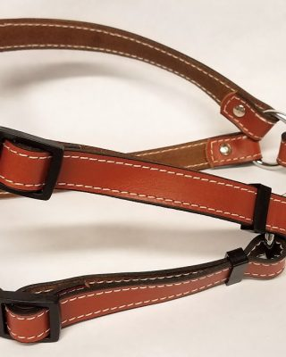 Leather Dog Harness 0.75 Inch Wide-DHS5003-Tan