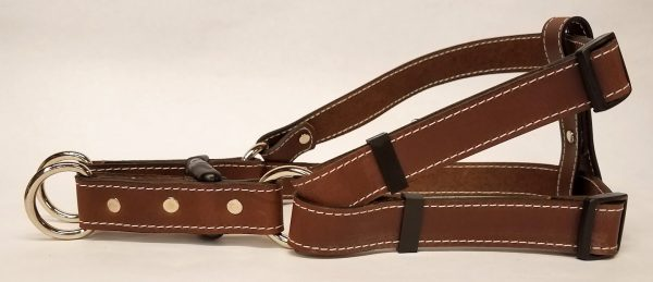 Leather Dog Harness 1 Inch Wide-Brown-DHS5001