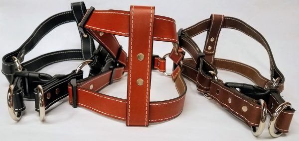 Leather Dog Harness 1 Inch Wide-DHS5001-2
