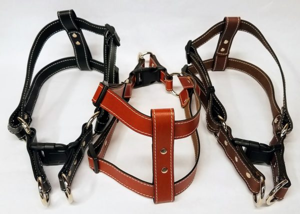 Leather Dog Harness 1 Inch Wide-DHS5001