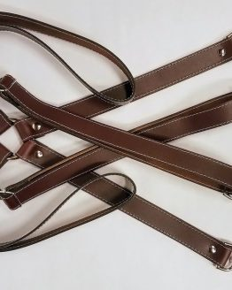 "These handmade Leather Suspenders are 1"" wide (1 inch) unless otherwise mentioned. Very sturdy suspenders with no elastic are adjustable to will fit larger people as well."