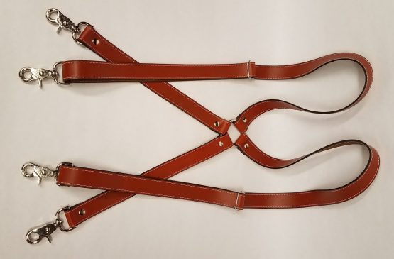 These areno stretch suspenders are 100% Solid Leather Made in the USA