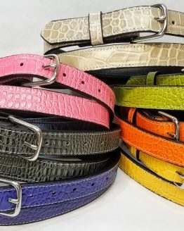 Exotic Print Leather Belts